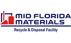 Mid-Florida Materials owns and operates a turnkey solid waste management facility in northwest Orange County, Florida. The facility accepts both Class III and a Construction & Demolition (C&D) Debris waste streams and also includes a recycling operation and a borrow pit. MFM's recycling facility provides the recycling reports required for LEED projects. Sand, sandy clay, and clay material are available at MFM's borrow pit. They also offer roll-off dumpster services as well as recycled concrete products like #57 rock, fines, and roadbase material. MFM is continually seeking improvements in efficiency while maintaining a high level of compliance in their recycling efforts and prides itself on being customer friendly and good neighbors.